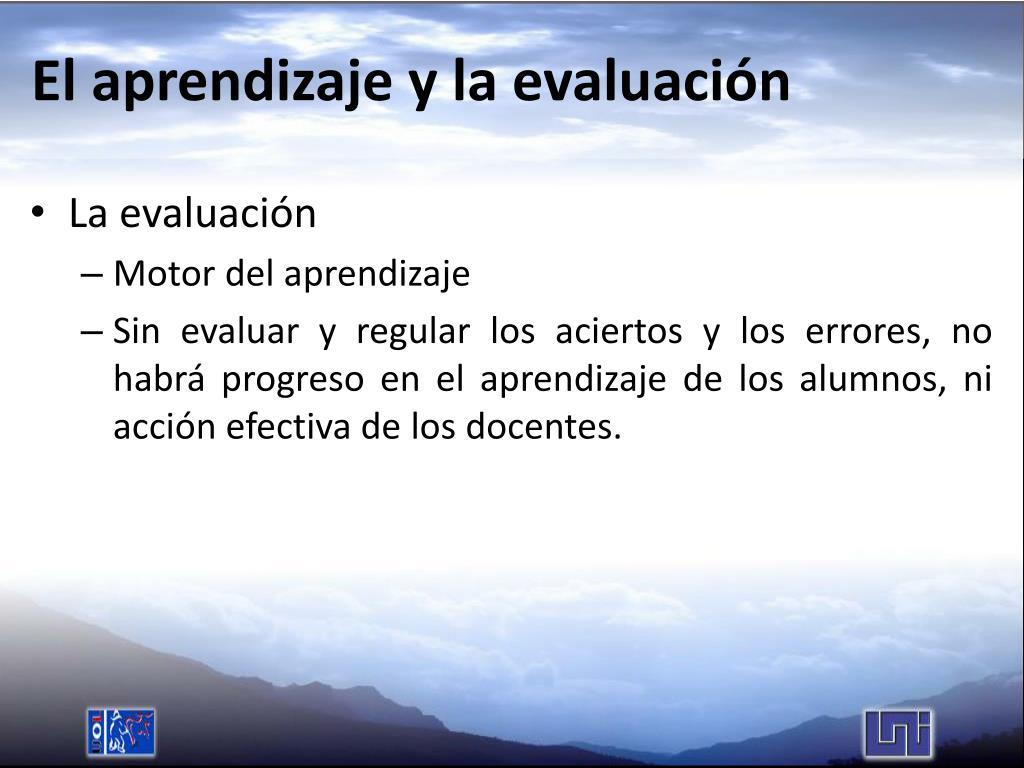 El aprendizaje y la evaluación