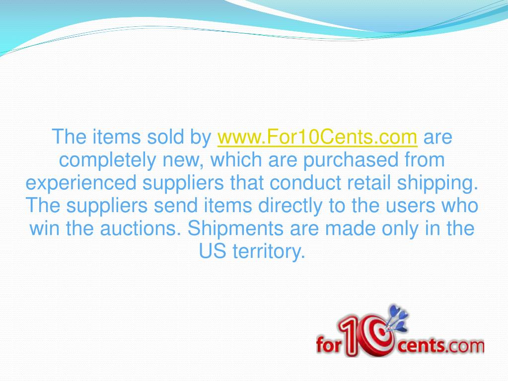 The items sold by