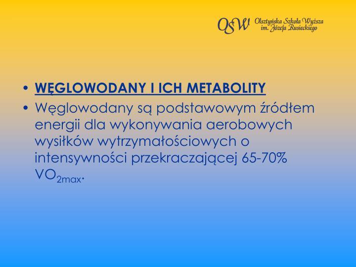 WGLOWODANY I ICH METABOLITY