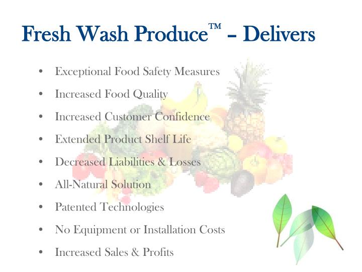 Fresh Wash Produce