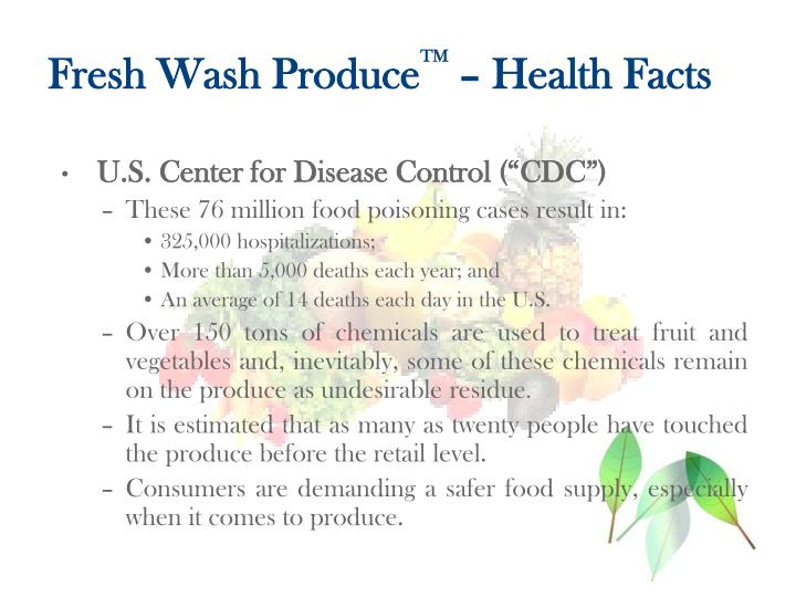 Fresh wash produce tm health facts