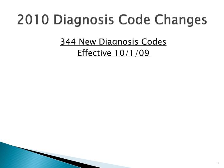 2010 diagnosis code changes