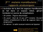 3 me molaire mandibulaire rapports anatomiques