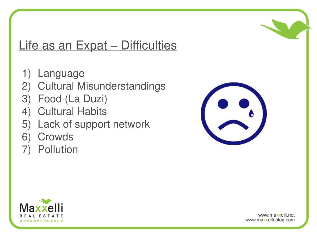 Life as an Expat – Difficulties