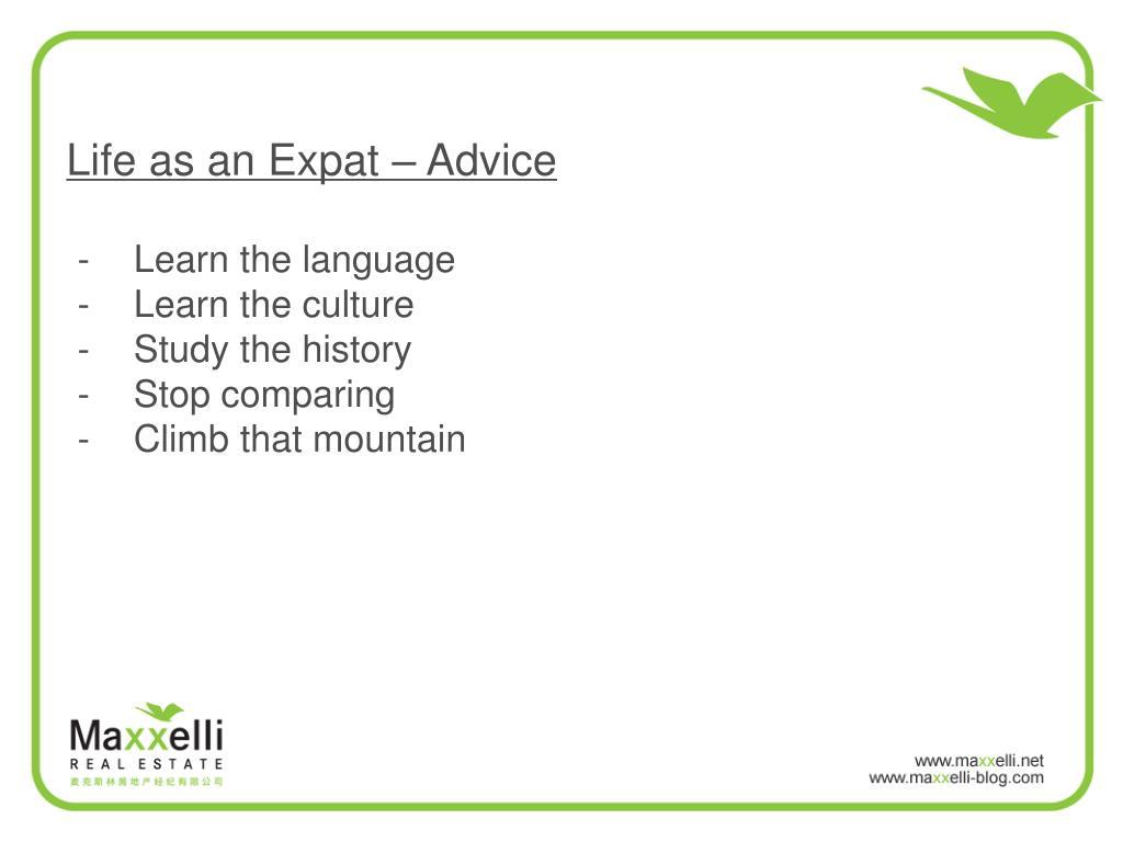 Life as an Expat – Advice