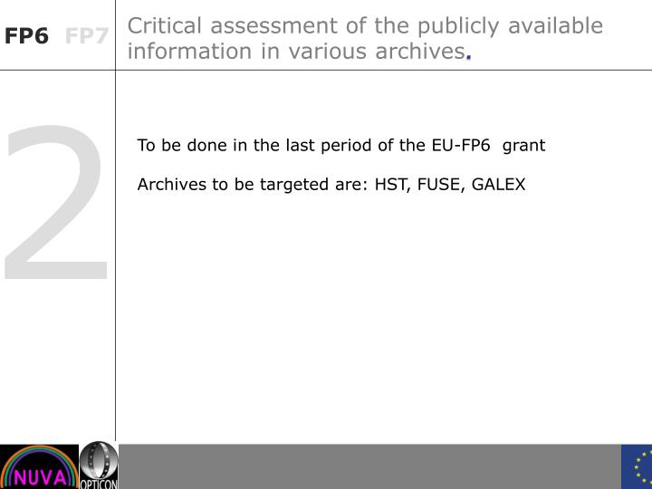 Critical assessment of the publicly available