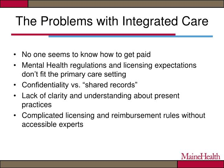 The Problems with Integrated Care