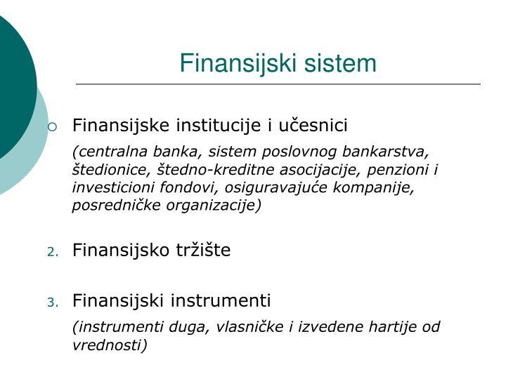 Finansijski sistem