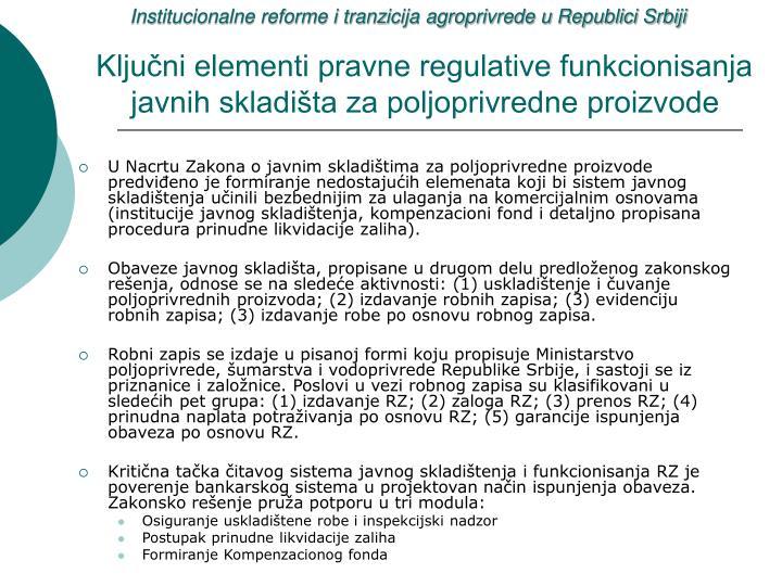 Institucionalne reforme i tranzicija agroprivrede u Republici Srbiji