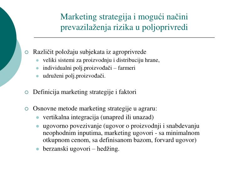 Marketing strategija i mogu