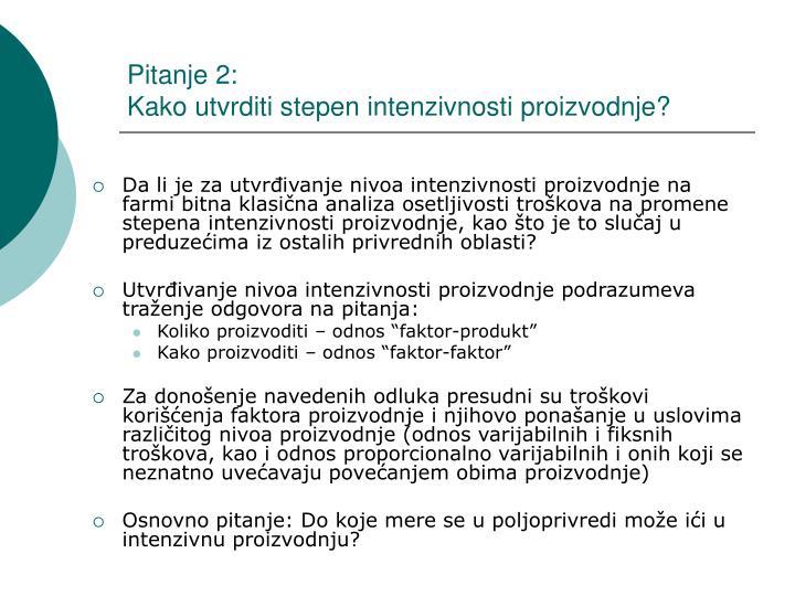 Pitanje 2: