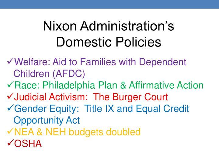 Nixon Administration's