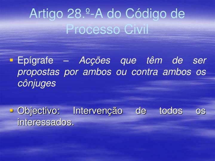 Artigo 28.º-A do Código de Processo Civil