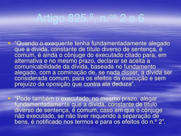 Artigo 825.º, n.
