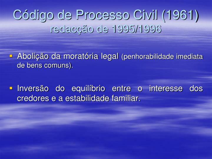 Código de Processo Civil (1961)