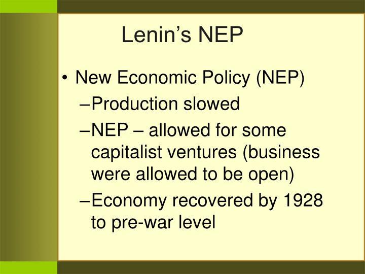 Lenin's NEP