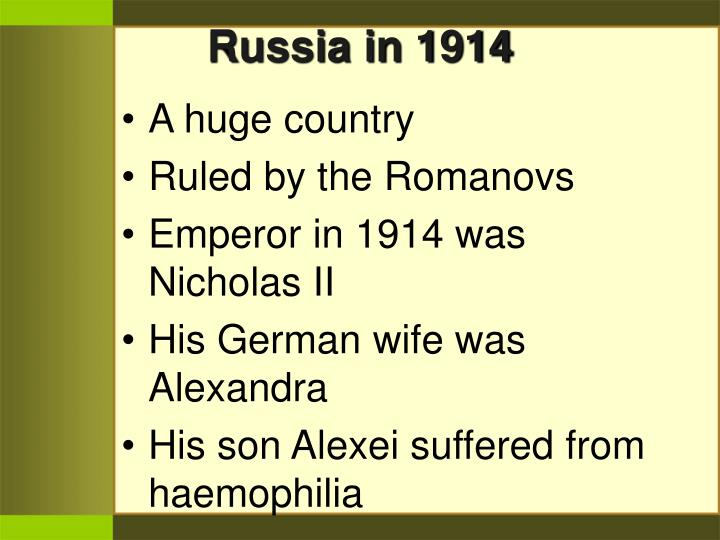 Russia in 1914