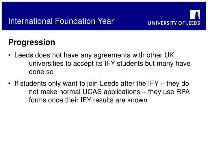 International Foundation Year