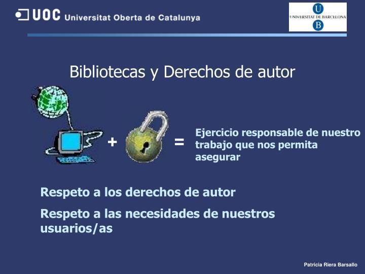 Bibliotecas y Derechos de autor