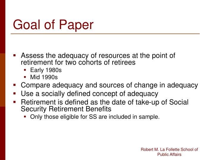 Goal of Paper