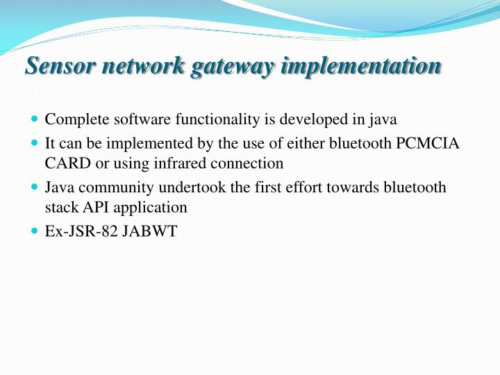 bluetooth based smart sensor networks full download An internet of things approach for managing smart services provided wireless sensor networks based on full ambient assisted living platform smart.