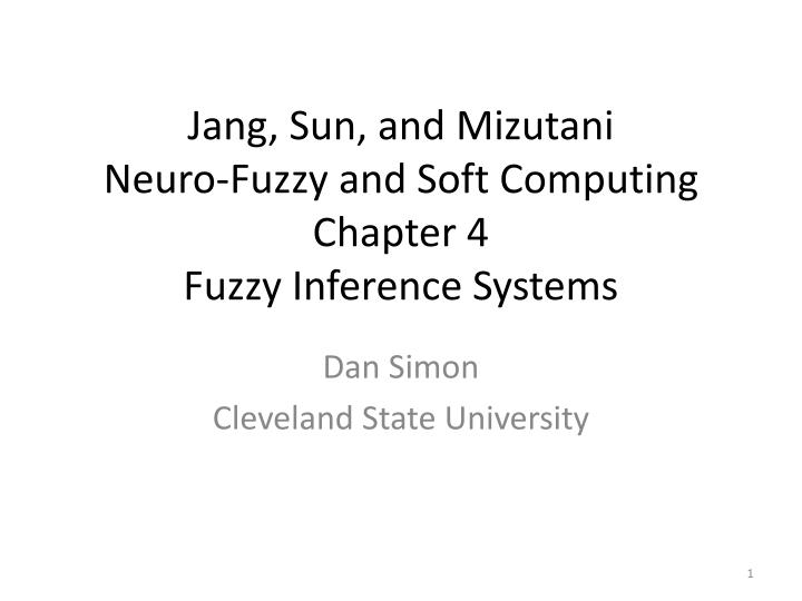 Jang sun and mizutani neuro fuzzy and soft computing chapter 4 fuzzy inference systems