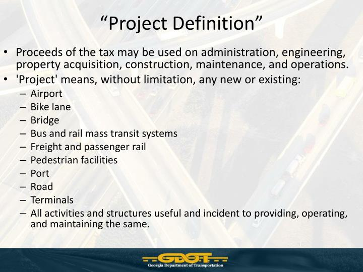 """Project Definition"""