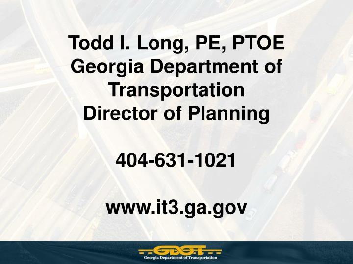 Todd I. Long, PE, PTOE