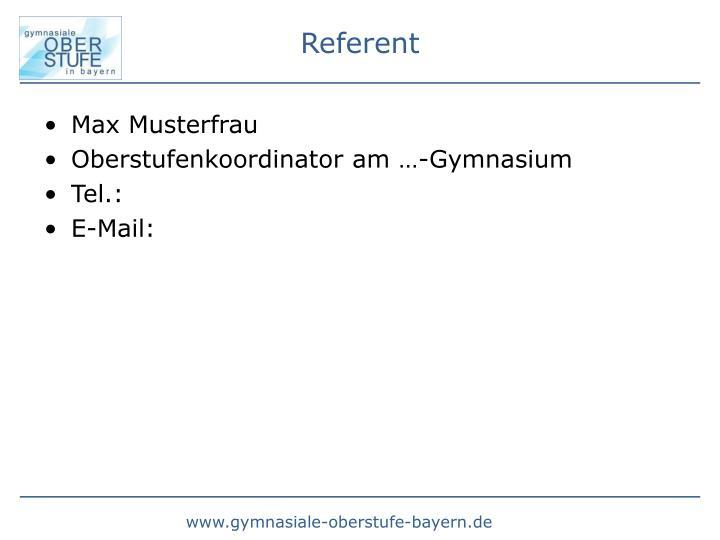 Max Musterfrau