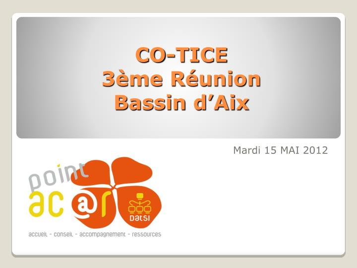Co tice 3 me r union bassin d aix