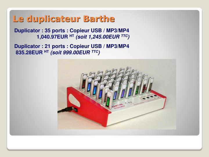 Duplicator : 35 ports : Copieur USB / MP3/MP4