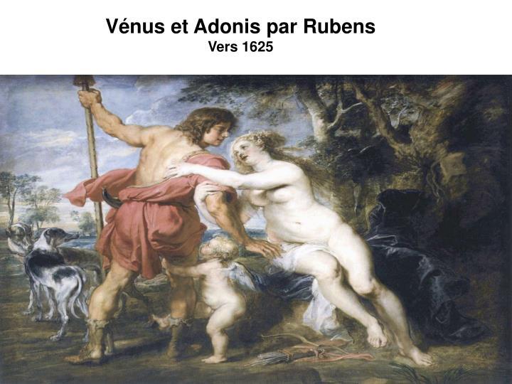 Vénus et Adonis par Rubens