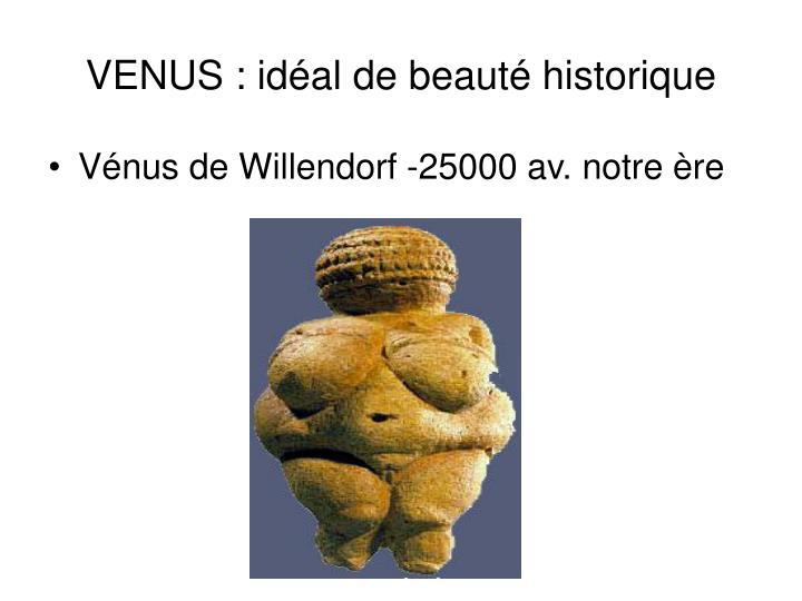 VENUS : idéal de beauté historique