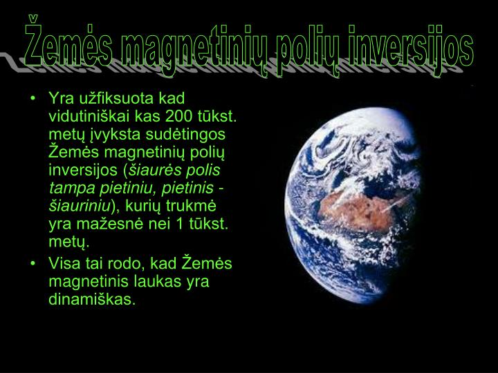 Žemės magnetinių polių inversijos