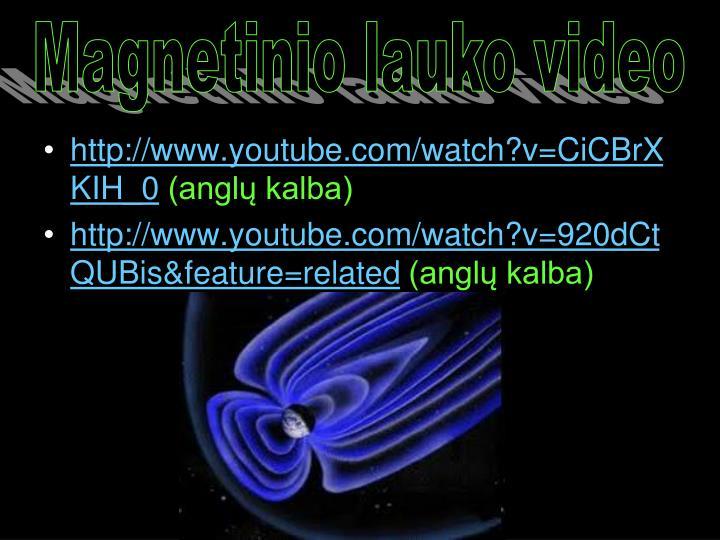 Magnetinio lauko video