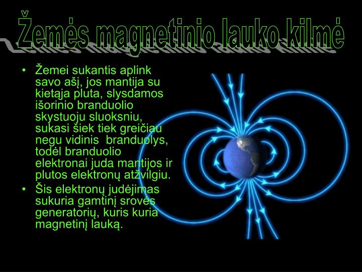 Žemės magnetinio lauko kilmė