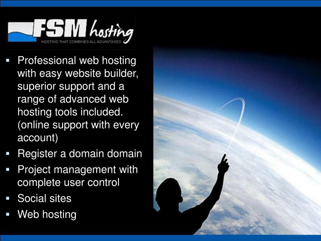 Professional web hosting with easy website builder, superior support and a range of advanced web hosting tools included. (online support with every account)