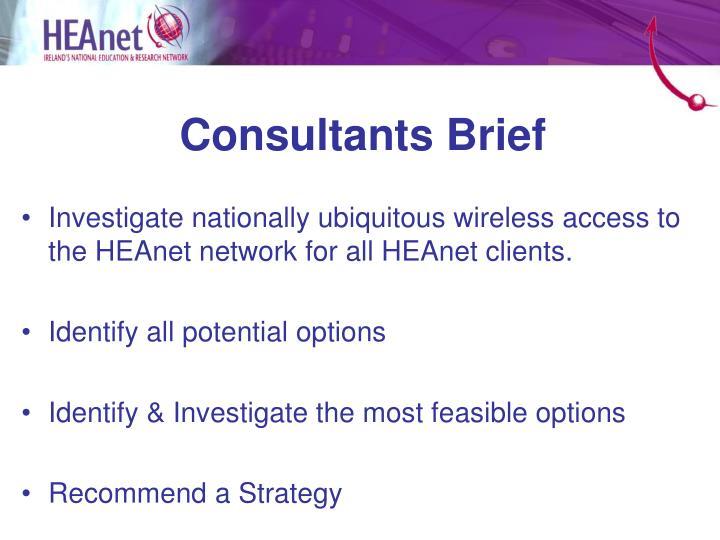 Consultants Brief