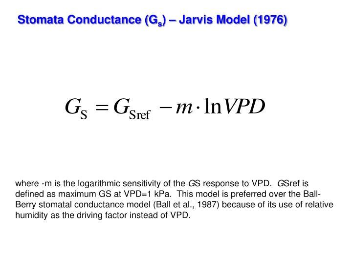 Stomata Conductance (G