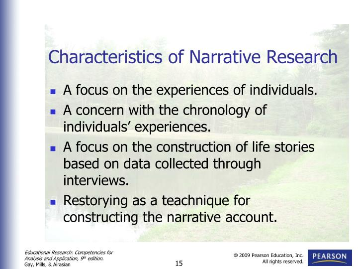 characteristics of narrative essay If the essay takes more of a narrative form then the author has to expose each aspect of the economic puzzle in a way that makes it clear and understandable for the.
