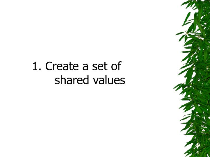 1. Create a set of