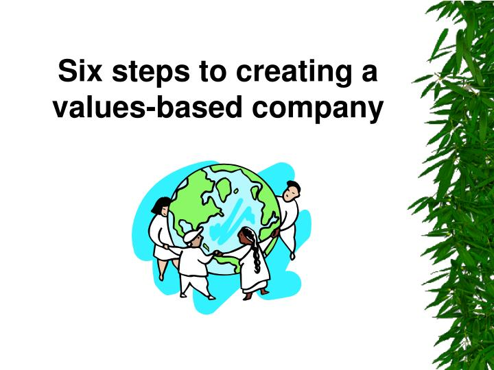 Six steps to creating a values-based company