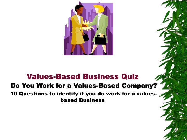 Values-Based Business Quiz