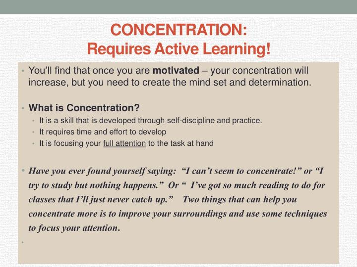 Concentration requires active learning