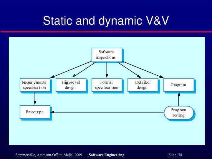 Static and dynamic V&V