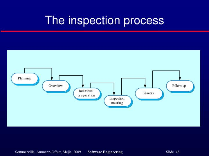 The inspection process