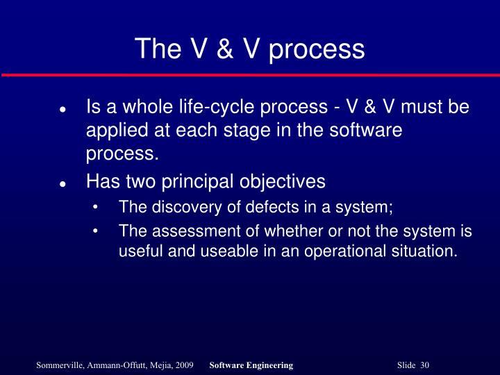 The V & V process