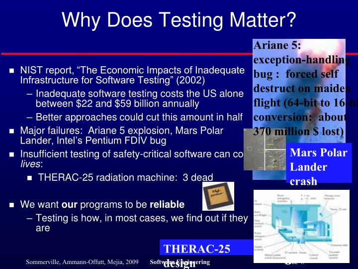 Why Does Testing Matter?