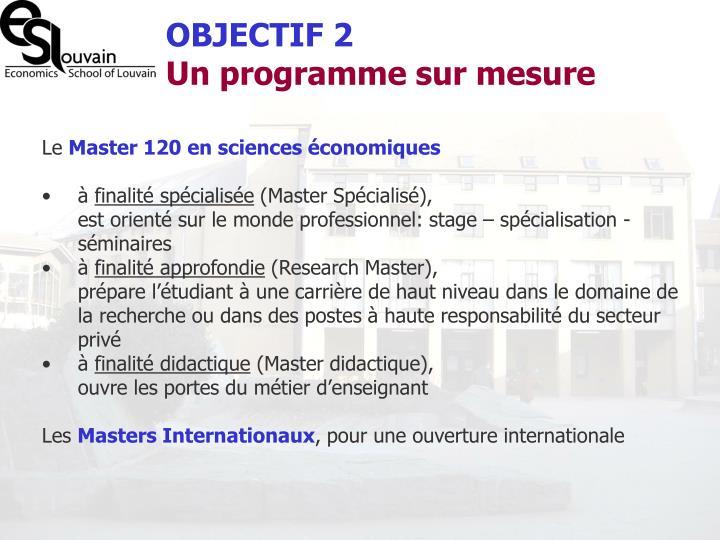 OBJECTIF 2