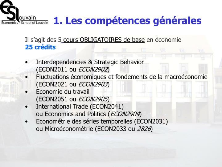 1. Les compétences générales